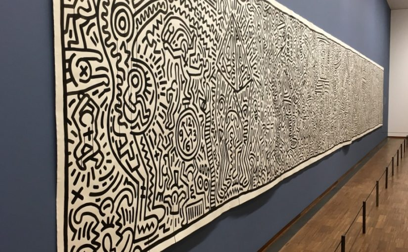 Dunaj, Albertina in Keith Haring